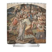 Mural Painting Abbey Fontevraud Shower Curtain
