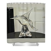 Murano Crystal Bird Shower Curtain