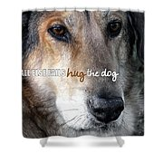 Murphy Quote Shower Curtain