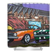 Muscle Cars Shower Curtain