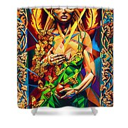 Muse  Autumn Shower Curtain