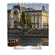 Musee D'orsay Along River Seine Shower Curtain