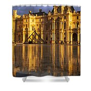 Musee Du Louvre Sunset Shower Curtain