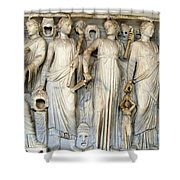 Muses And Poets Shower Curtain