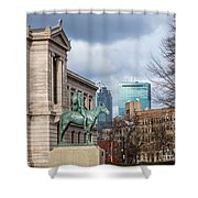 Museum Of Fine Arts View Shower Curtain