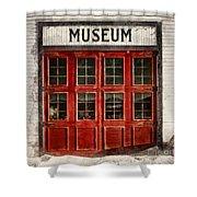 Museum Shower Curtain by Priska Wettstein