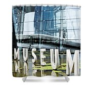 Museum Reflection Shower Curtain