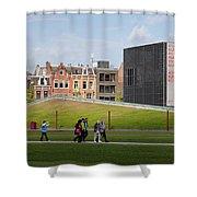 Museumplein Lawn In Amsterdam Shower Curtain