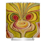 Sage Onion Mushroom Shower Curtain