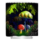 Mushroom Town Shower Curtain