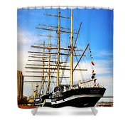 Mushulu At Penns Landing Shower Curtain