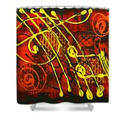 Music 3 Shower Curtain