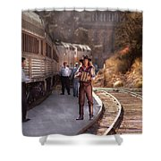 Music - Accordion - The Guy And The Squeeze Box Shower Curtain by Mike Savad