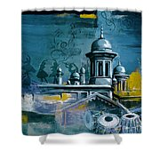 Music And Heritage Shower Curtain by Catf