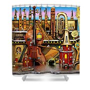 Music Castle Shower Curtain