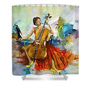 Music Colors And Beauty Shower Curtain