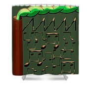 Music Industry Shower Curtain