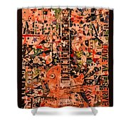 Music For Life All Is One Guitar   Shower Curtain