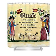 Music Fraktur Shower Curtain