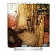 Music - Harp - The Harp Shower Curtain