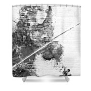 Music In My Soul Black And White Shower Curtain