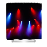 Music In Red And Blue - The Wonderful Sound Of Nightlife Shower Curtain