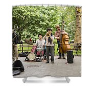 Music In The Park Shower Curtain