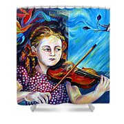 Music Lessons Shower Curtain