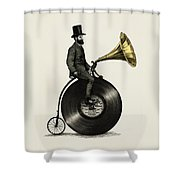 Music Man Shower Curtain by Eric Fan