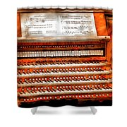 Music - Organist - The Pipe Organ Shower Curtain by Mike Savad