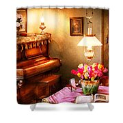Music - Piano - The Music Room Shower Curtain