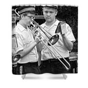 Music - Trombone - A Helping Hand  Shower Curtain