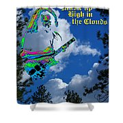 Music Up In The Clouds Again Shower Curtain