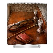 Music - Violin - A Sound Investment  Shower Curtain
