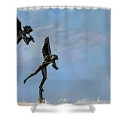 Musical Angels Shower Curtain