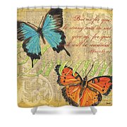 Musical Butterflies 1 Shower Curtain