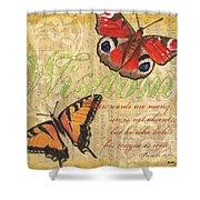 Musical Butterflies 4 Shower Curtain