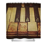 Musical Fingerprints Shower Curtain