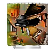 Musical Instruments With Keyboards Shower Curtain
