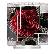Musical Rose Montage Shower Curtain