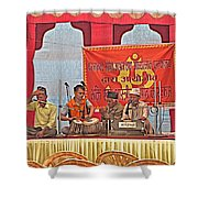 Musicians At Hindu Festival Of Ram Nawami In Kathmandu-nepal Shower Curtain