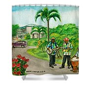 Musicians On Island Of Grenada Shower Curtain