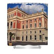 Musikverein Gesellschaft Der Musikfreunde Building Vienna Austria Shower Curtain