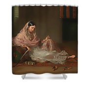 Muslim Lady Reclining Shower Curtain