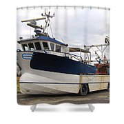 Mussel Boat Shower Curtain