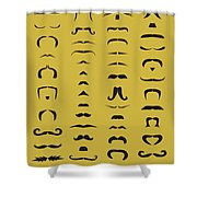 Mustache Library Poster Shower Curtain