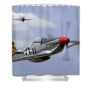 Mustang And Thunderbolt Shower Curtain