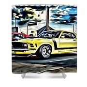 Mustang Boss 302 Shower Curtain