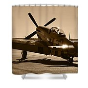 Mustang In The Sun Shower Curtain