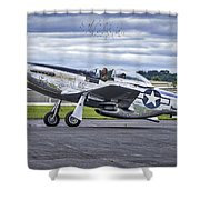 Mustang P51 Shower Curtain